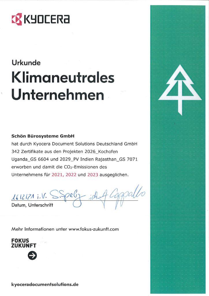 thumbnail of Klimaneutrales Unternehmen 2021 bis 2023